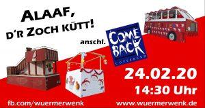 "Rosenmontagszug und ""After-Zoch-Party"" 2020"