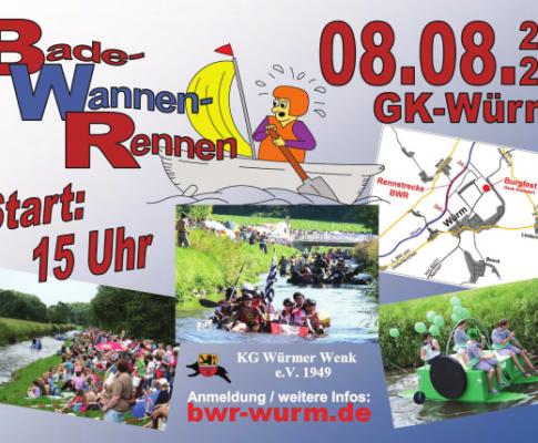 Badewannenrennen + Burgfest 2020